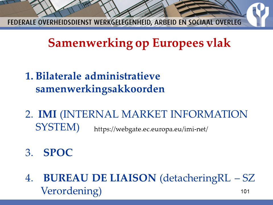 Samenwerking op Europees vlak