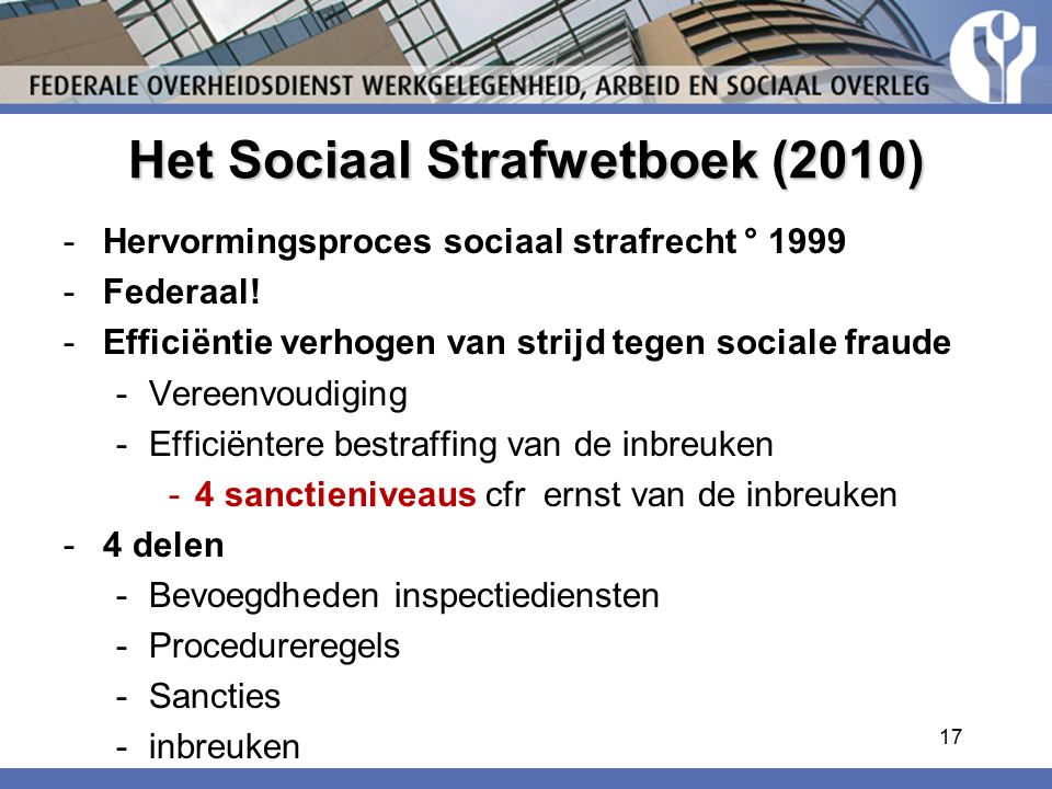 Het Sociaal Strafwetboek (2010)
