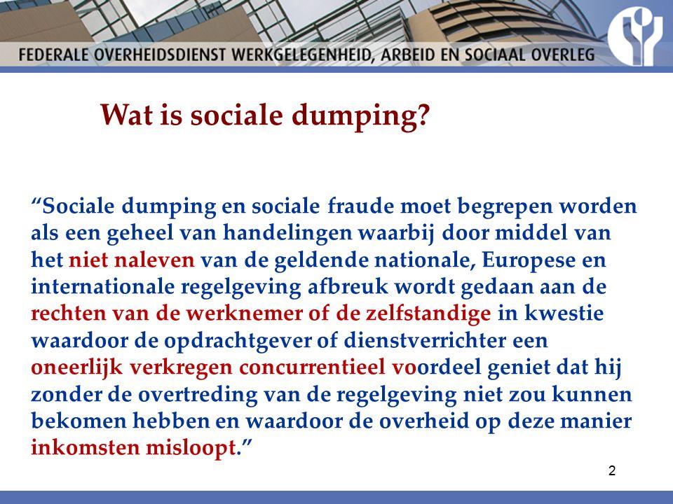Wat is sociale dumping