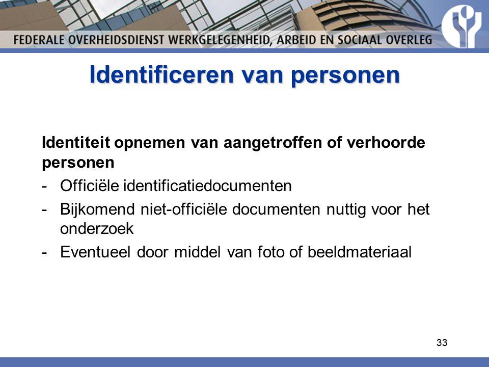 Identificeren van personen
