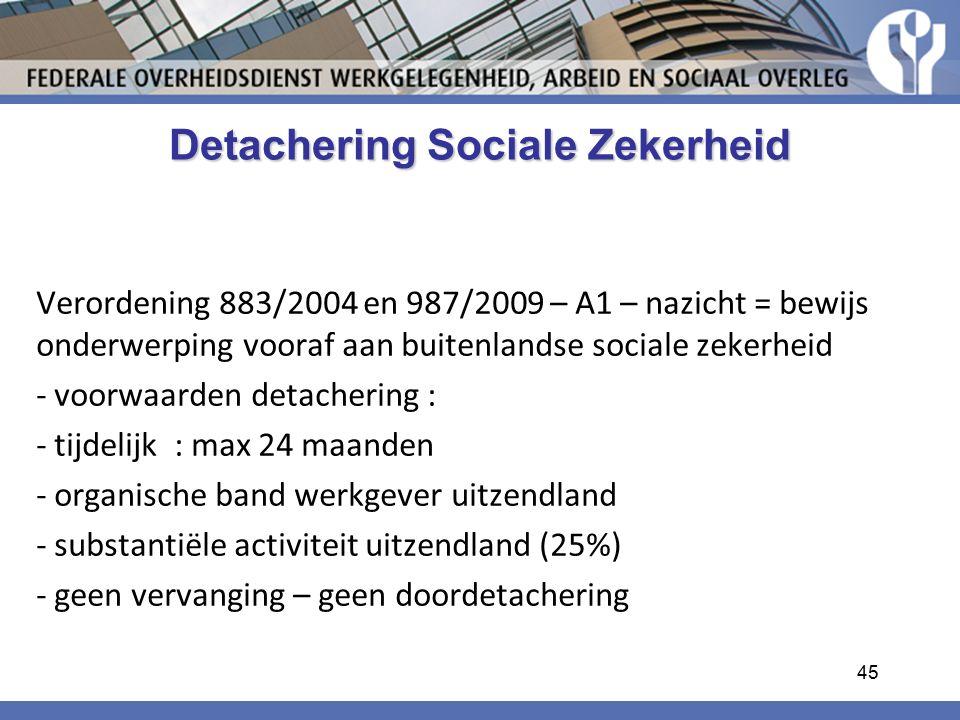 Detachering Sociale Zekerheid