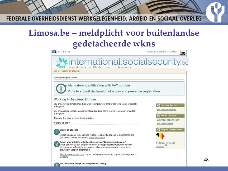 Limosa.be – meldplicht voor buitenlandse gedetacheerde wkns
