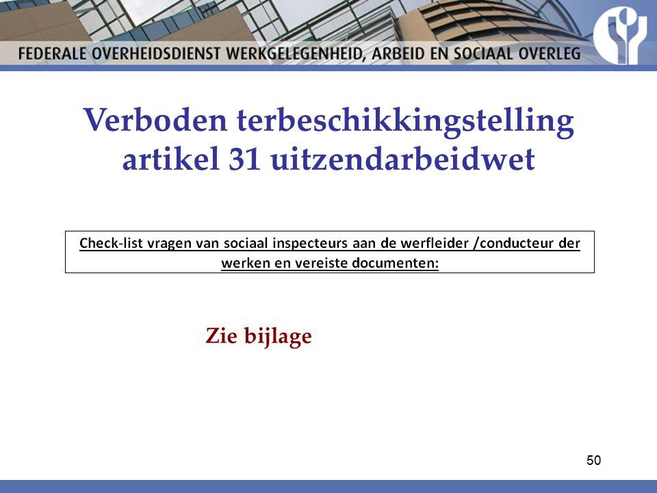Verboden terbeschikkingstelling artikel 31 uitzendarbeidwet