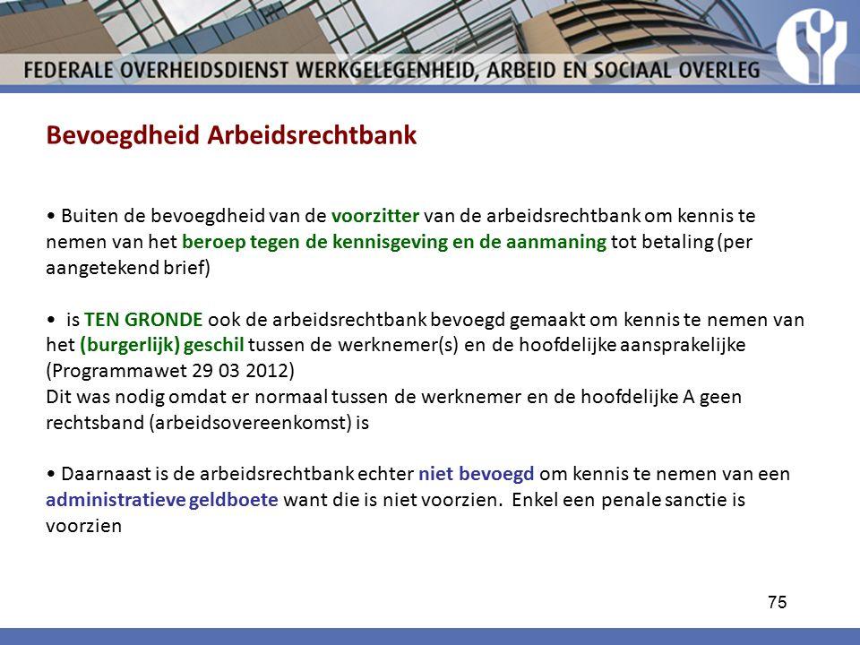 Bevoegdheid Arbeidsrechtbank