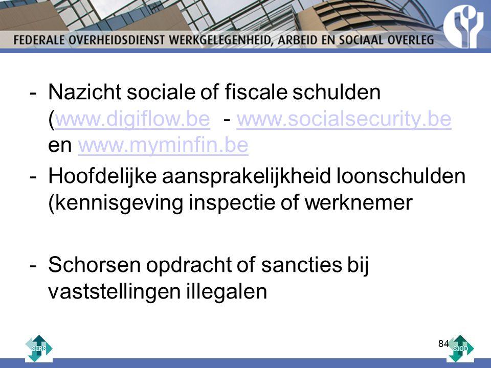 Nazicht sociale of fiscale schulden (www. digiflow. be - www