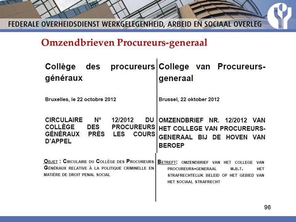 Omzendbrieven Procureurs-generaal