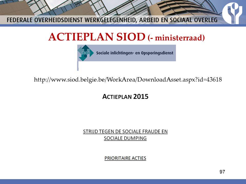 ACTIEPLAN SIOD (- ministerraad)