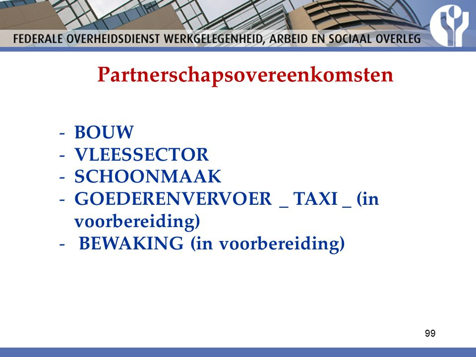 Partnerschapsovereenkomsten
