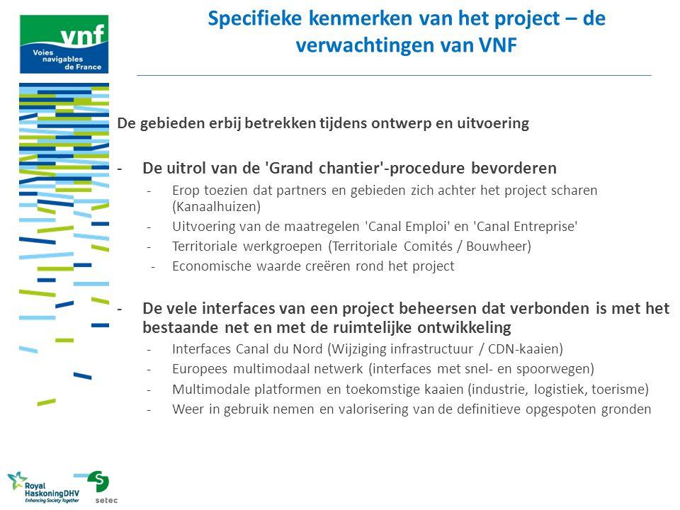 Specifieke kenmerken van het project – de verwachtingen van VNF
