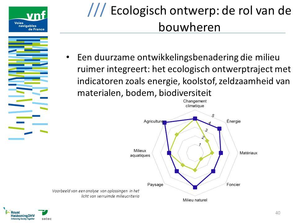/// Ecologisch ontwerp: de rol van de bouwheren
