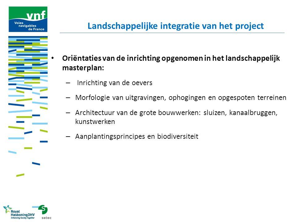 Landschappelijke integratie van het project