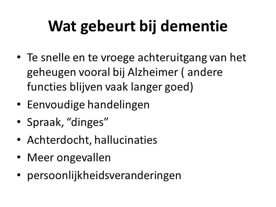 Wat gebeurt bij dementie
