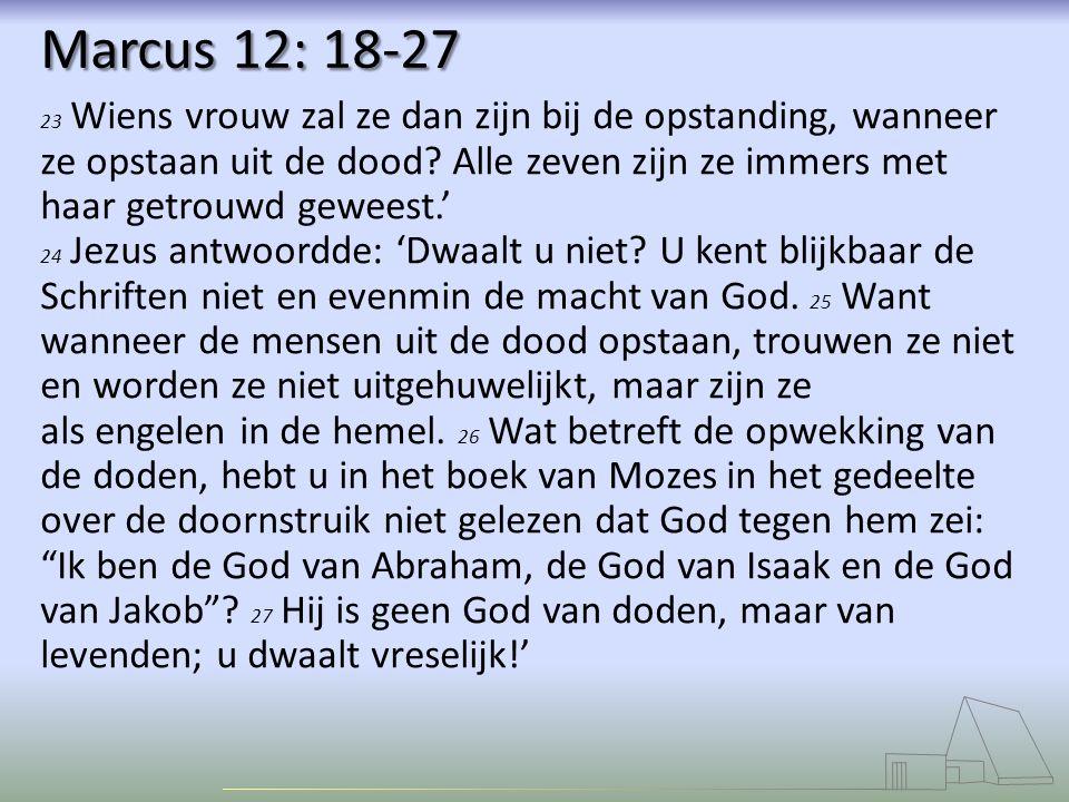 Marcus 12: 18-27