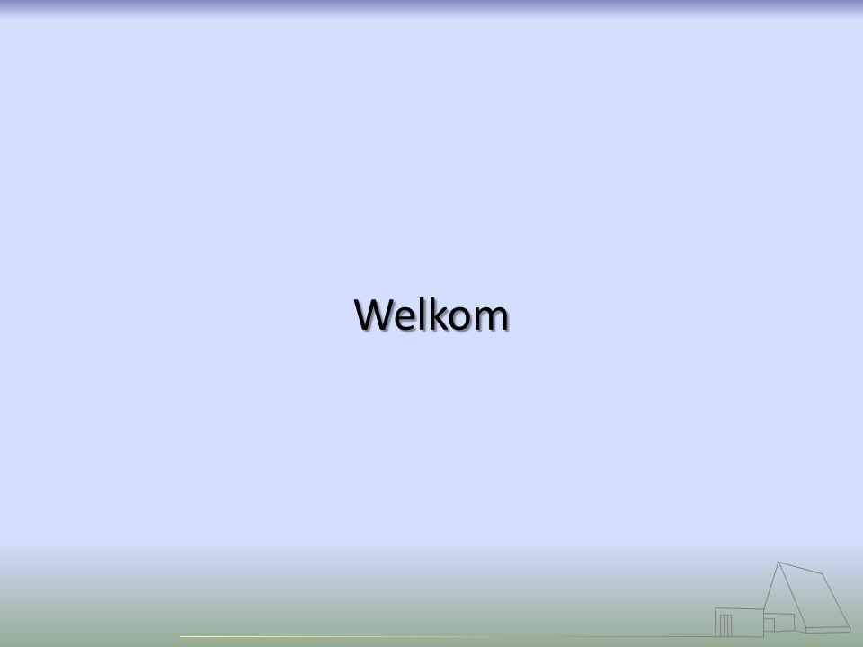 Welkom Welkom Psalm 139:1, 2 Klein Gloria Beginwoord en Groet