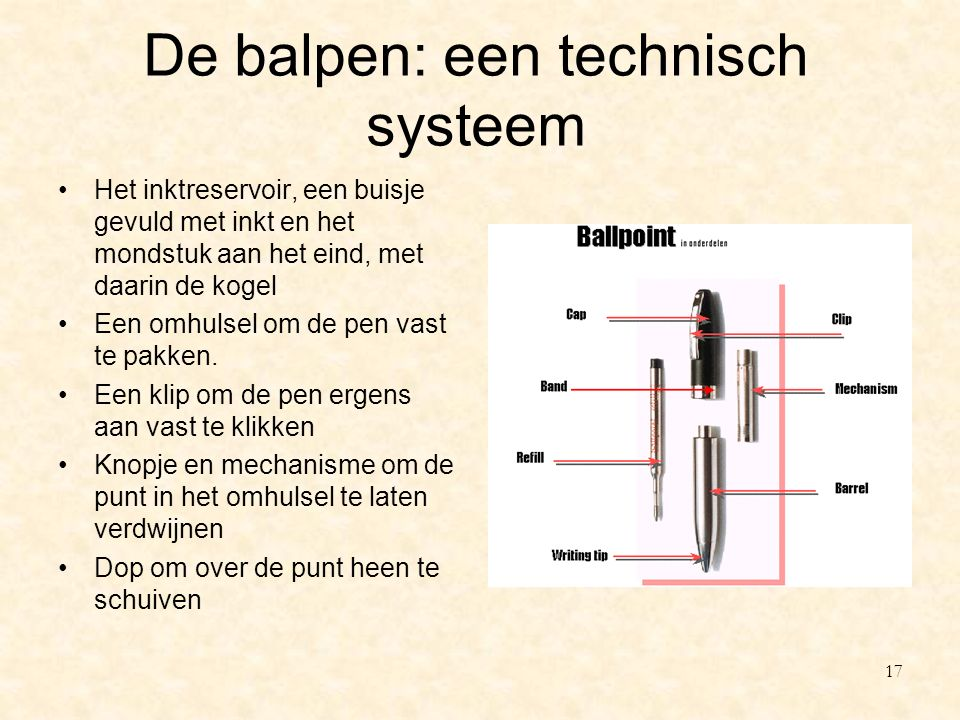 De balpen: een technisch systeem
