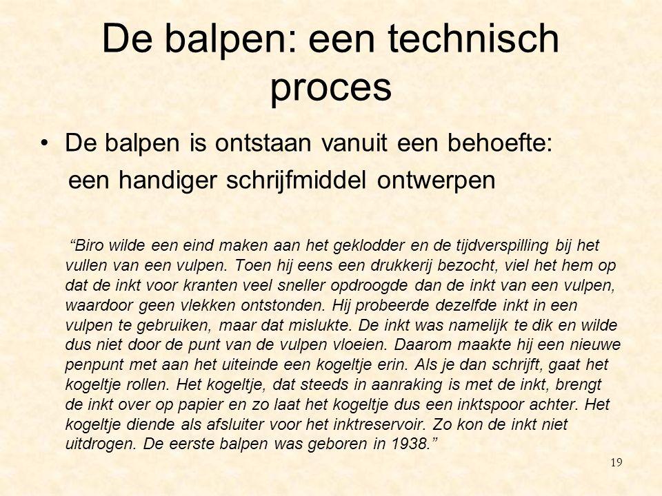 De balpen: een technisch proces