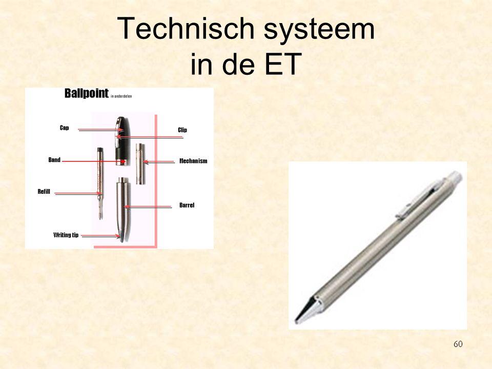 Technisch systeem in de ET