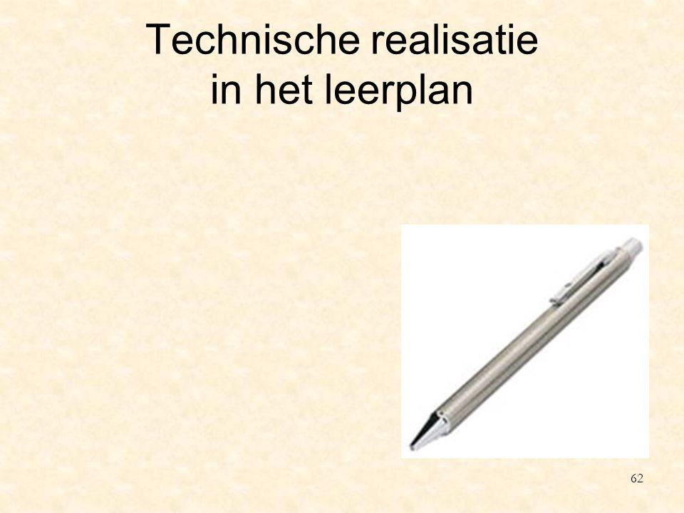 Technische realisatie in het leerplan