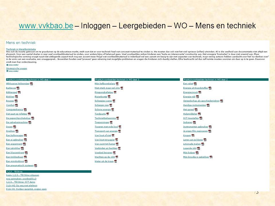 www.vvkbao.be – Inloggen – Leergebieden – WO – Mens en techniek