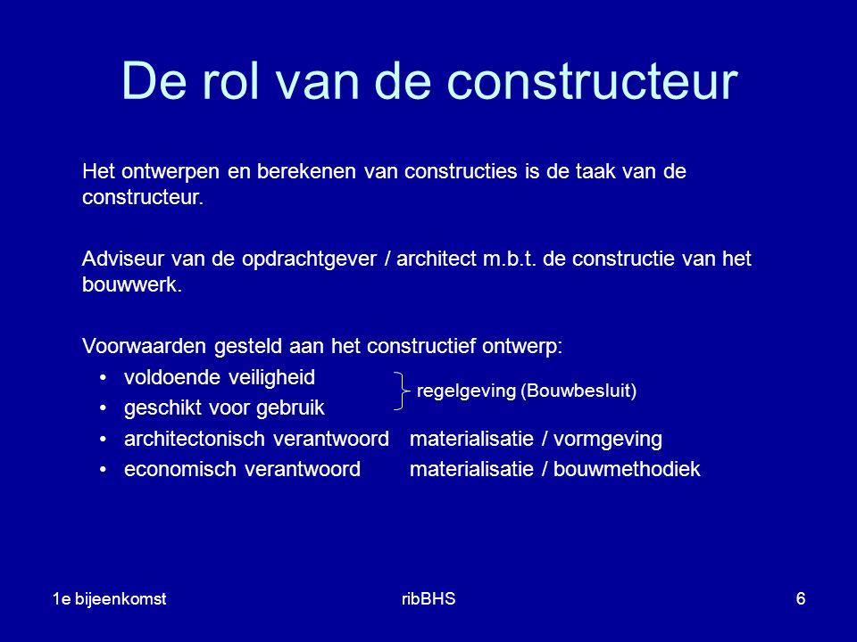 De rol van de constructeur