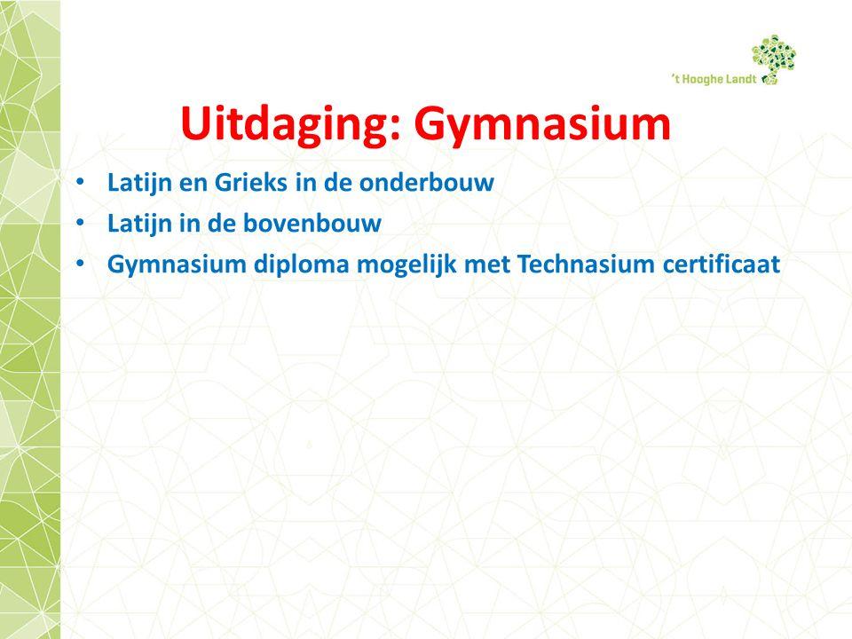 Uitdaging: Gymnasium Latijn en Grieks in de onderbouw