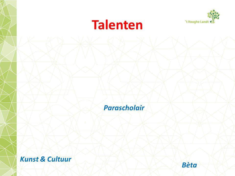 Talenten Parascholair Kunst & Cultuur Bèta