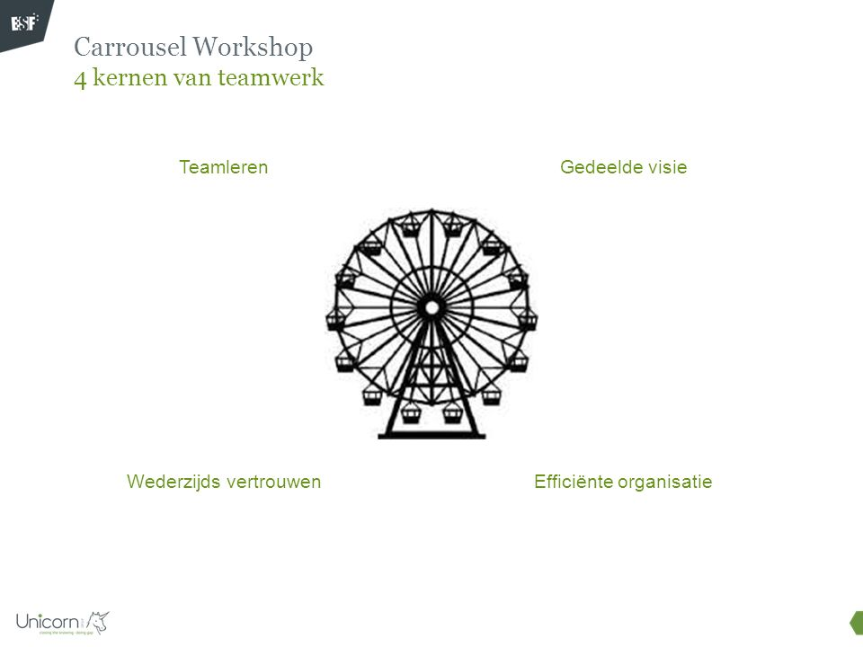 Carrousel Workshop 4 kernen van teamwerk