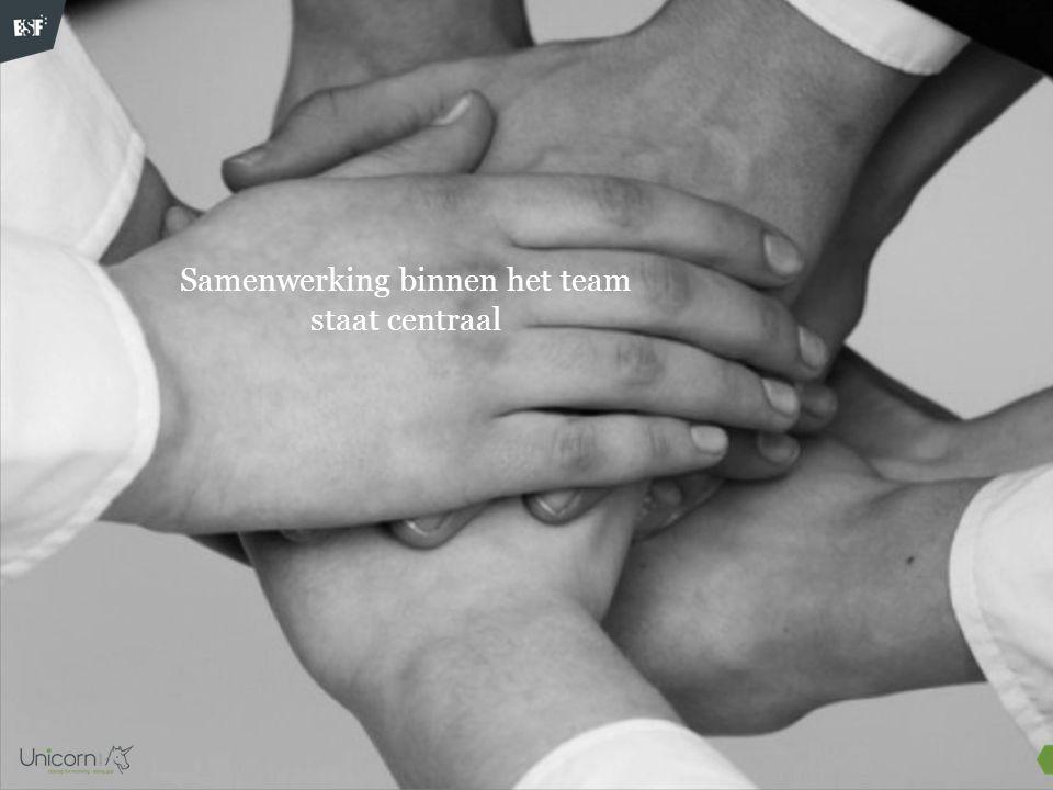 Samenwerking binnen het team staat centraal