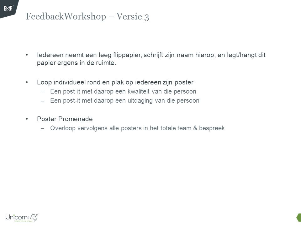 FeedbackWorkshop – Versie 3