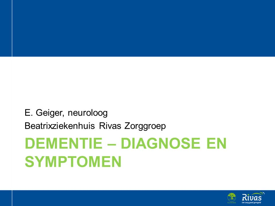 Dementie – diagnose en symptomen