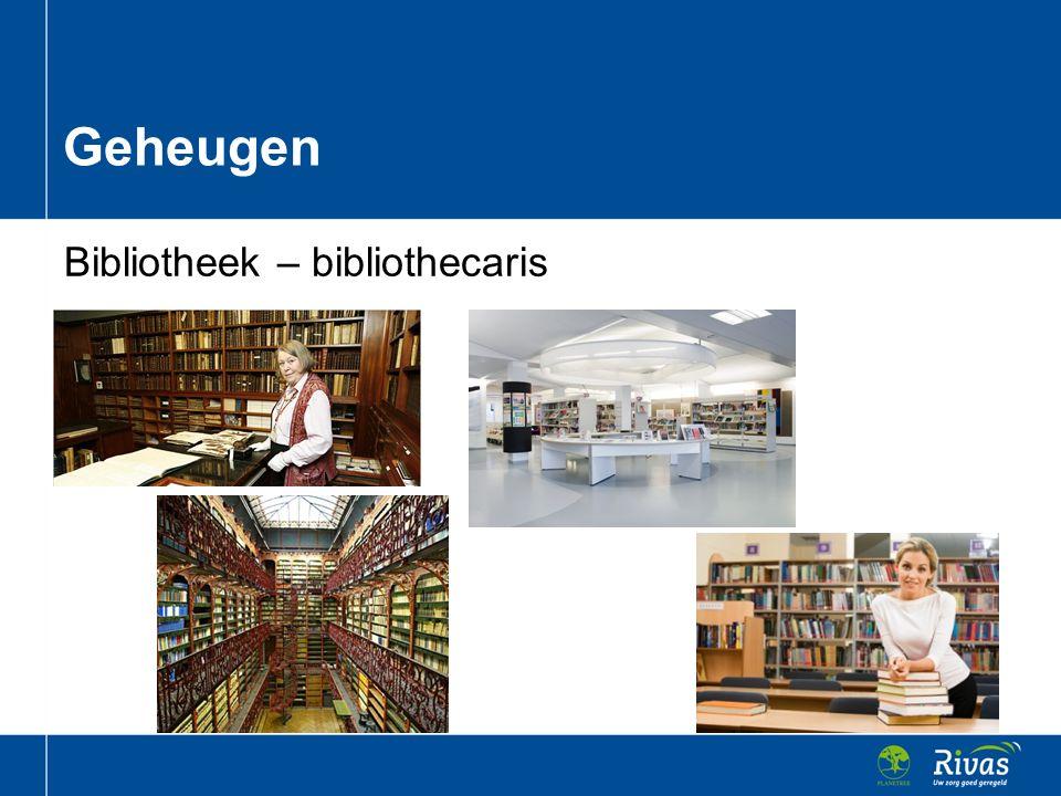 Geheugen Bibliotheek – bibliothecaris
