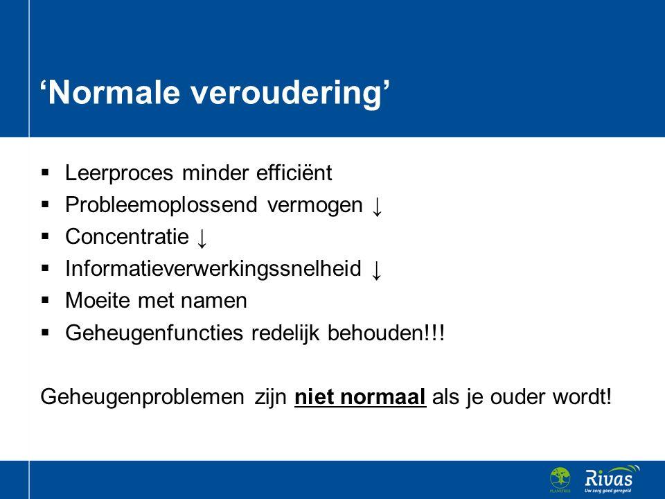 'Normale veroudering'