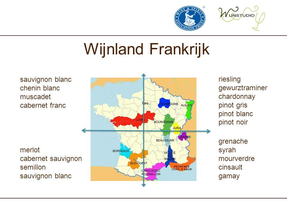 Wijnland Frankrijk sauvignon blanc chenin blanc muscadet
