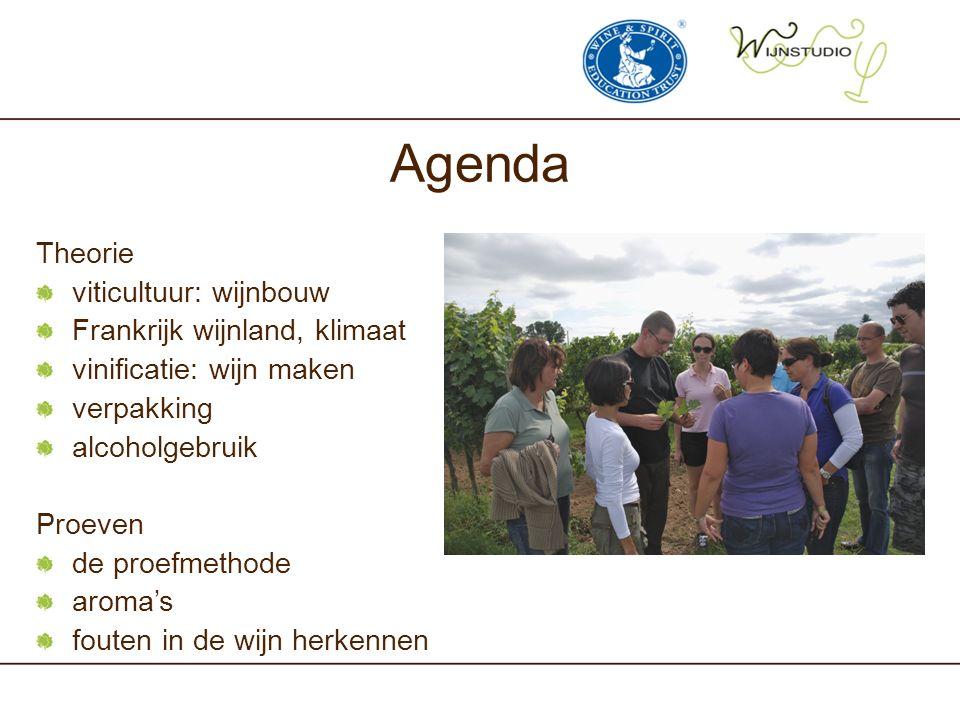 Agenda Theorie viticultuur: wijnbouw Frankrijk wijnland, klimaat