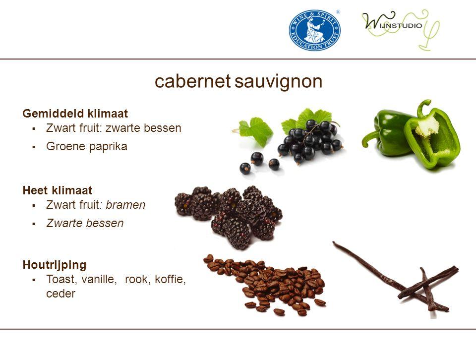 cabernet sauvignon Gemiddeld klimaat Zwart fruit: zwarte bessen