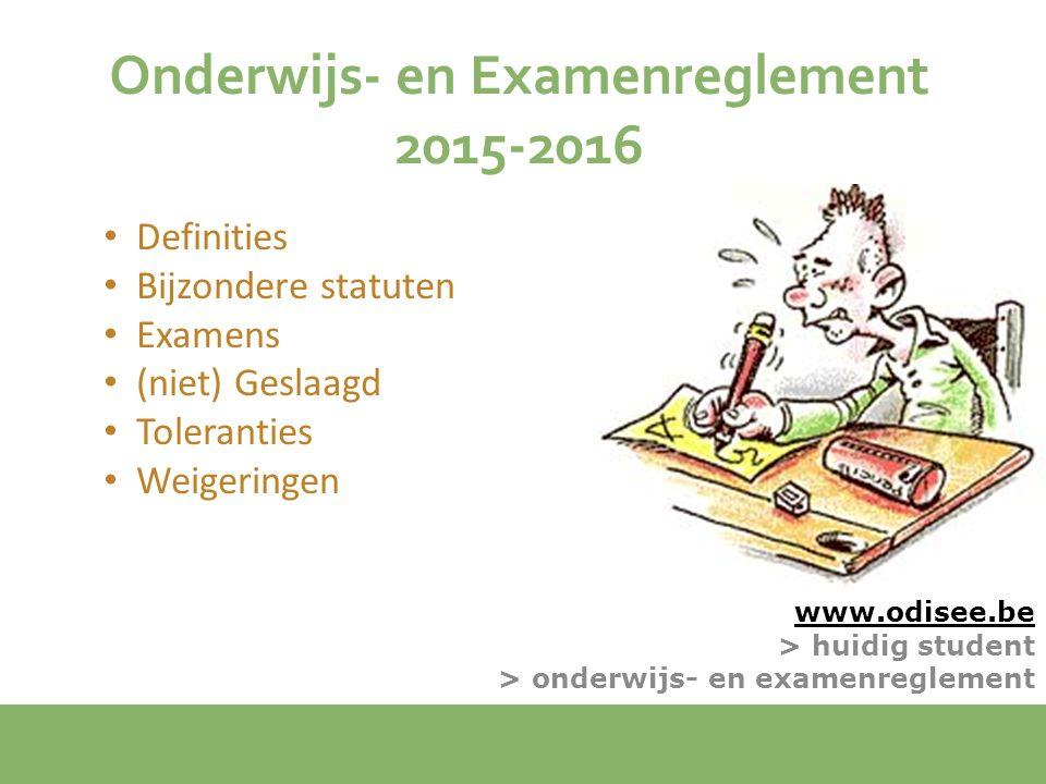 Onderwijs- en Examenreglement 2015-2016