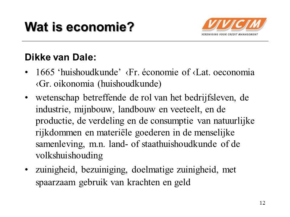 Wat is economie Dikke van Dale: