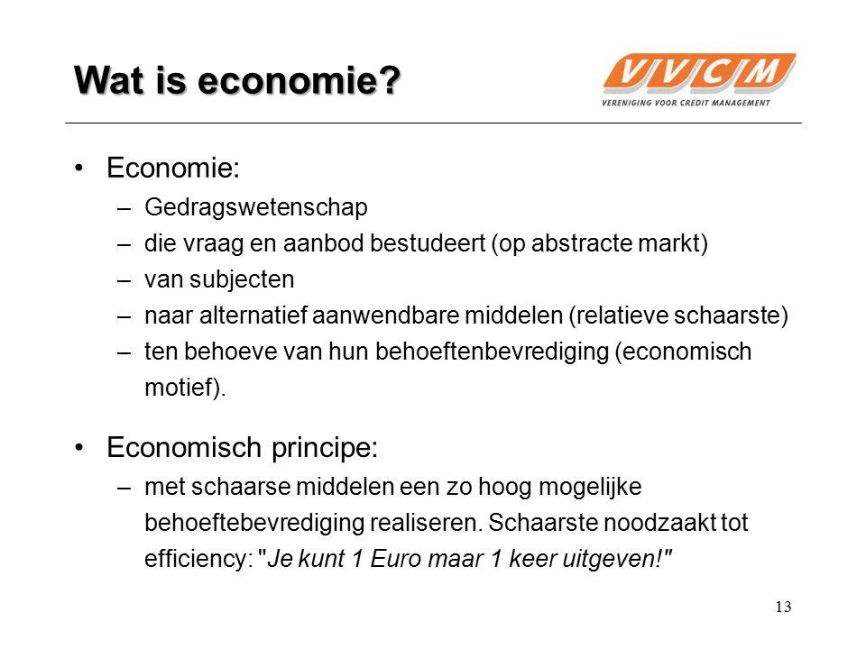 Wat is economie Economie: Economisch principe: Gedragswetenschap