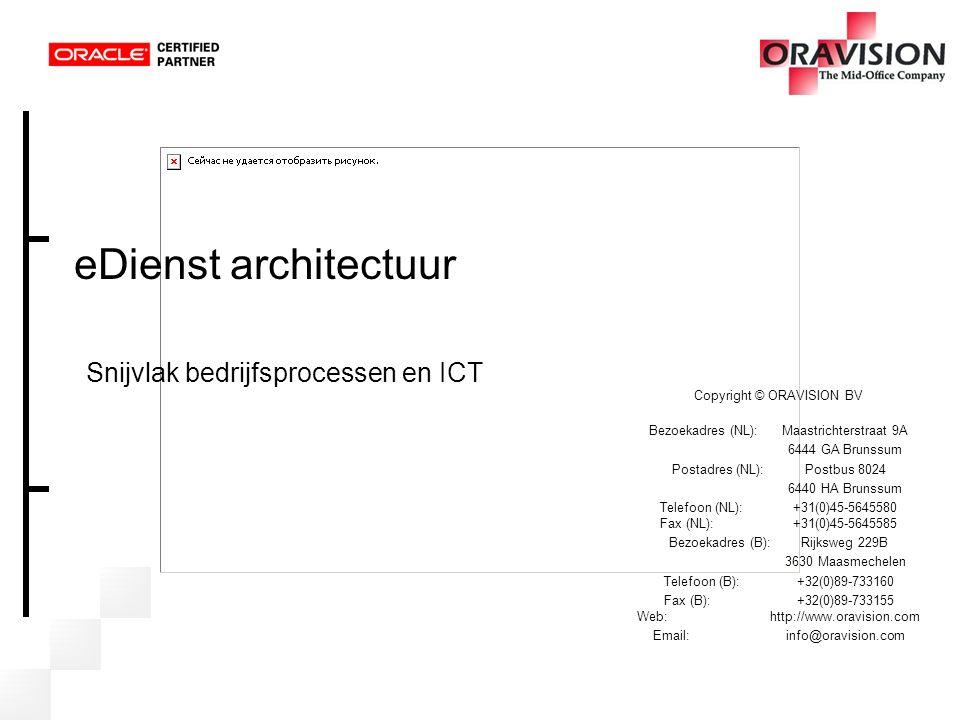 eDienst architectuur Snijvlak bedrijfsprocessen en ICT