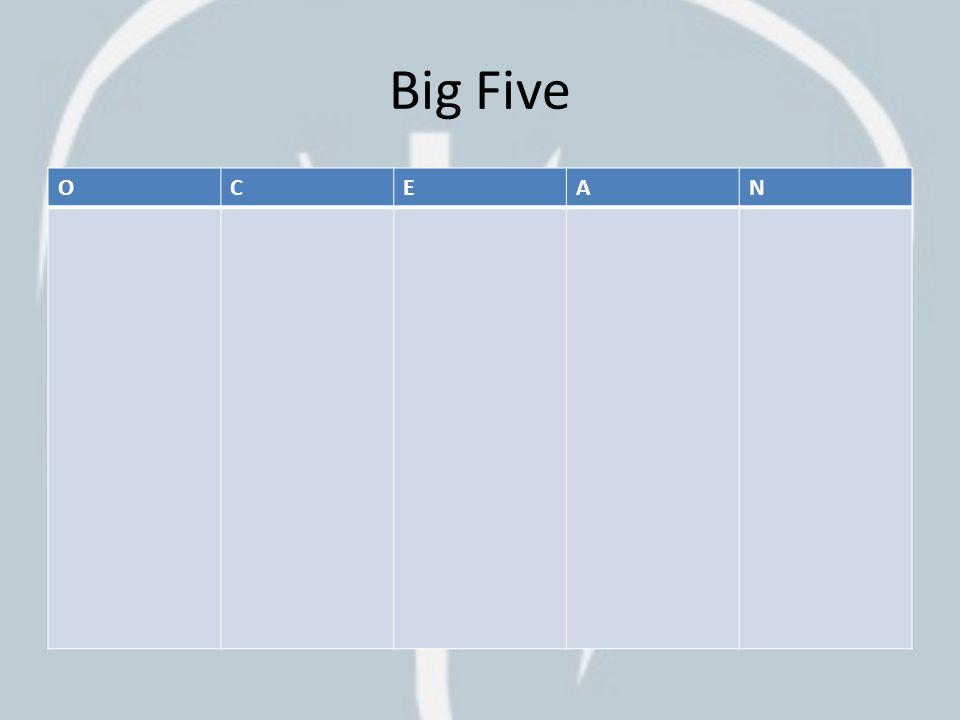 Big Five O C E A N