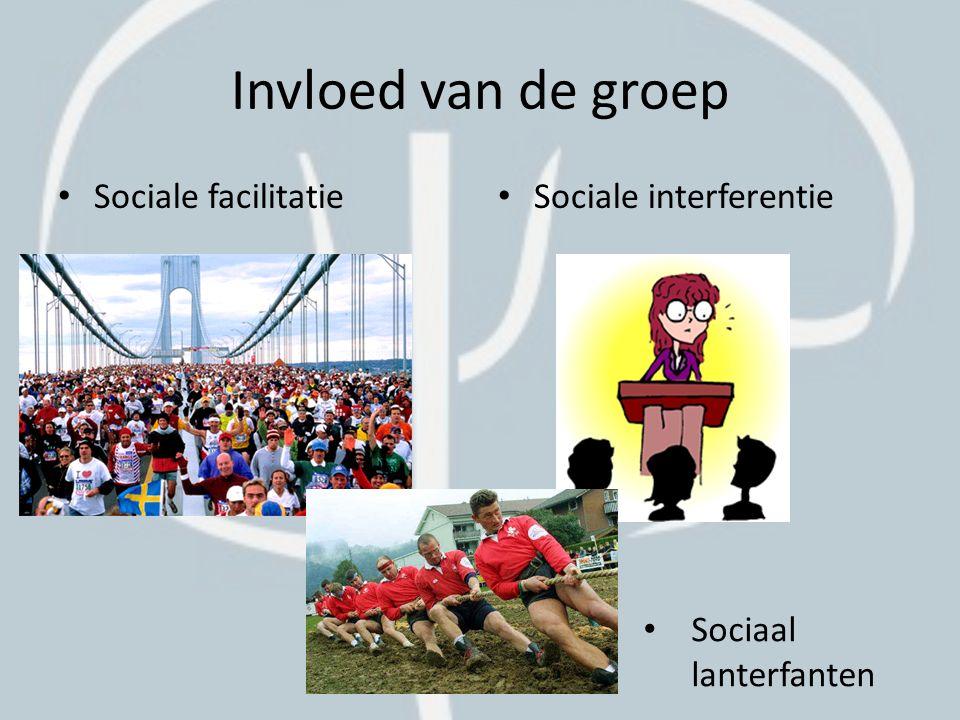 Invloed van de groep Sociale facilitatie Sociale interferentie