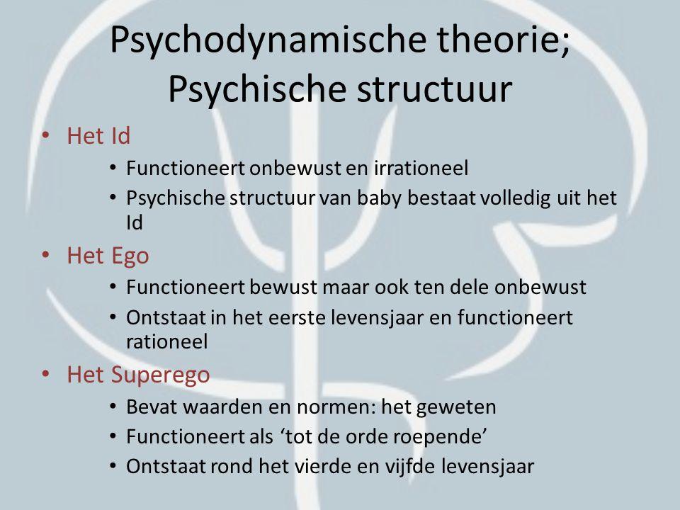 Psychodynamische theorie; Psychische structuur