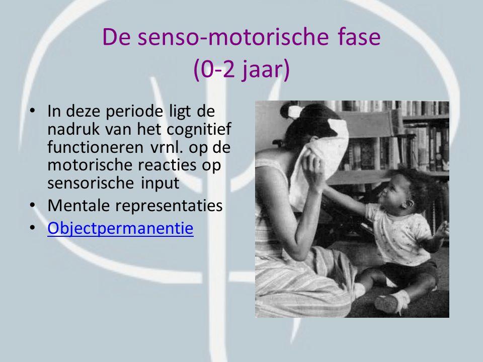De senso-motorische fase (0-2 jaar)