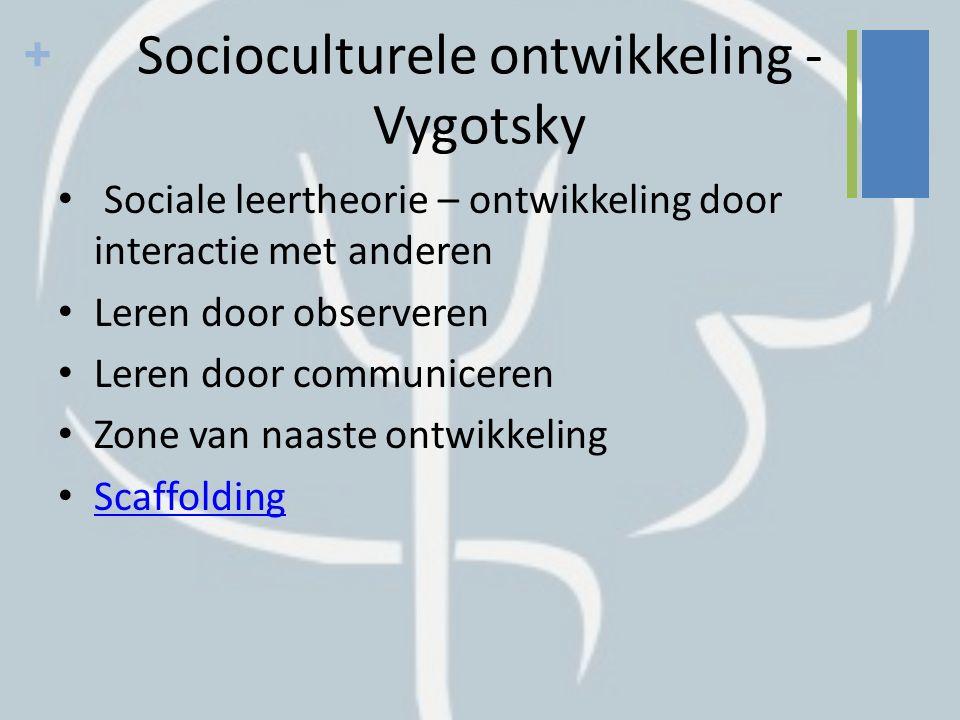 Socioculturele ontwikkeling - Vygotsky