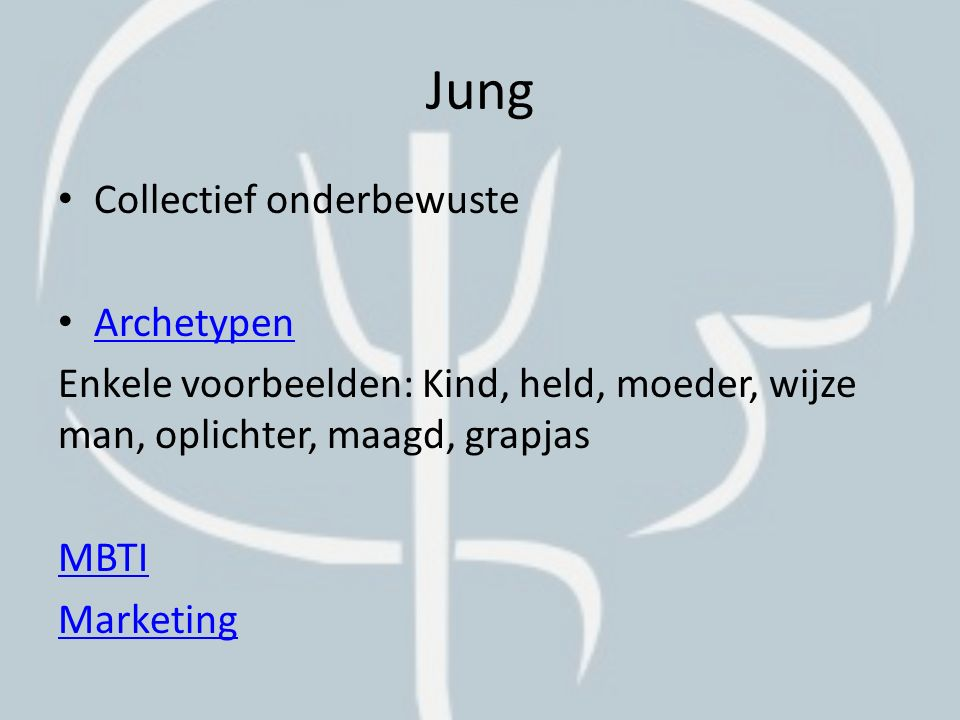 Jung Collectief onderbewuste Archetypen