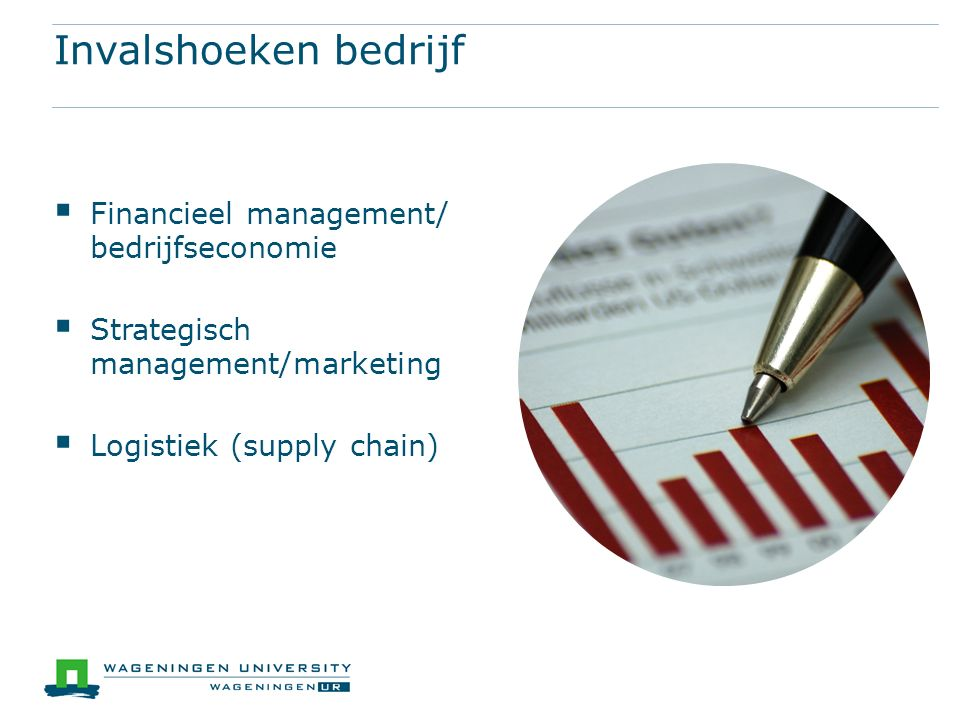 Invalshoeken bedrijf Financieel management/ bedrijfseconomie