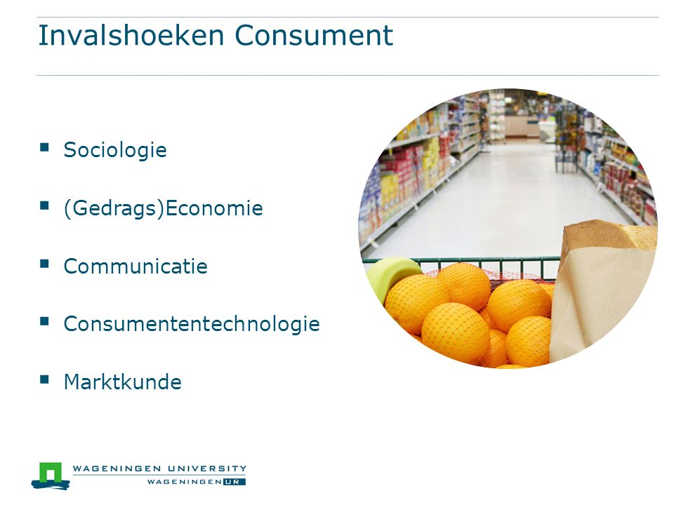 Invalshoeken Consument