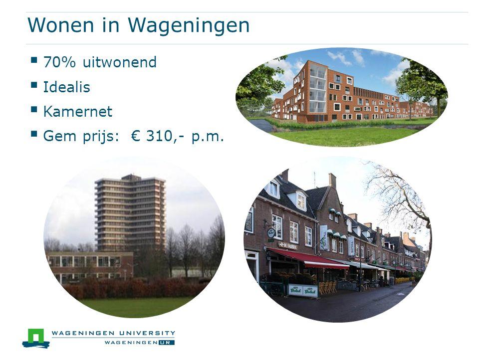 Wonen in Wageningen 70% uitwonend Idealis Kamernet
