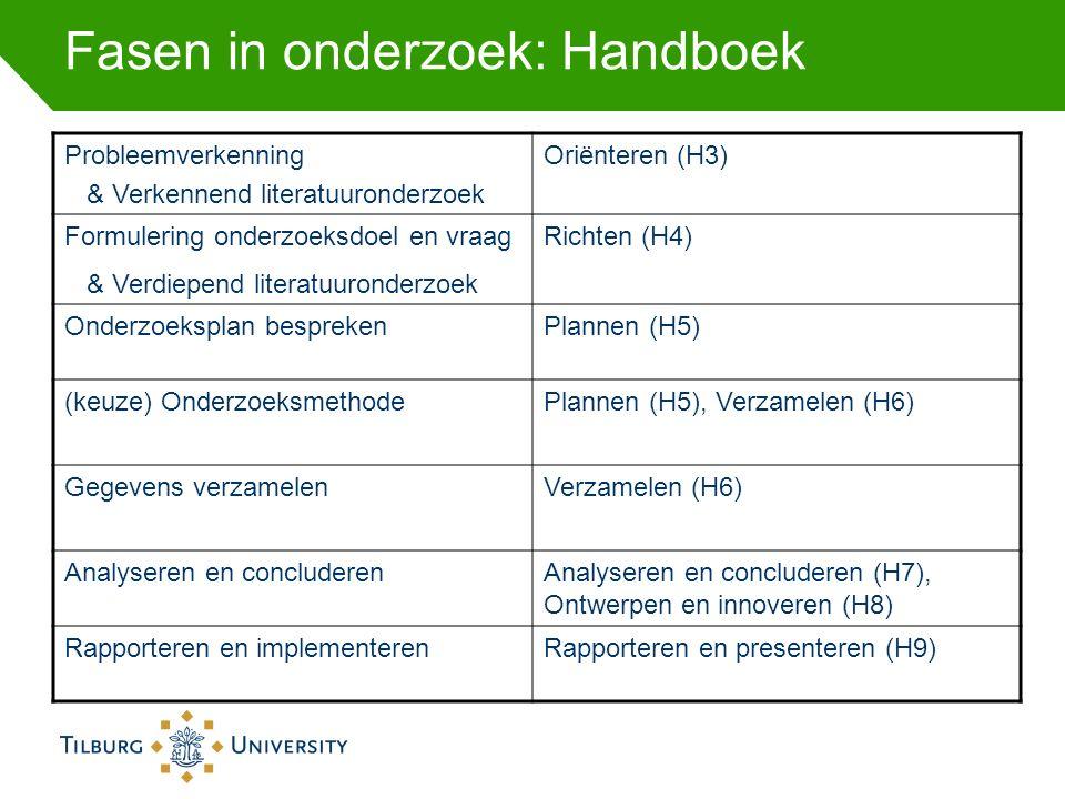 Fasen in onderzoek: Handboek