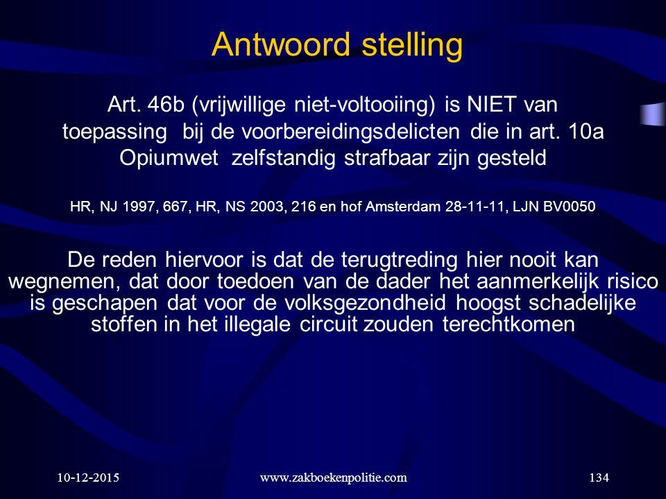 Antwoord stelling Art. 46b (vrijwillige niet-voltooiing) is NIET van
